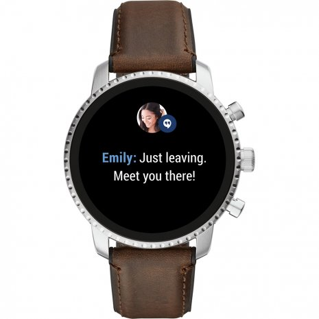 Touchscreen Smartwatch with Leather Strap - Gen4 Autumn and Winter Collection Fossil