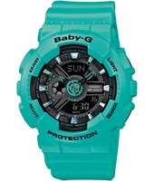 BA-111-3AER Baby-G 43.40mm Turquoise Ladies G-Shock Watch