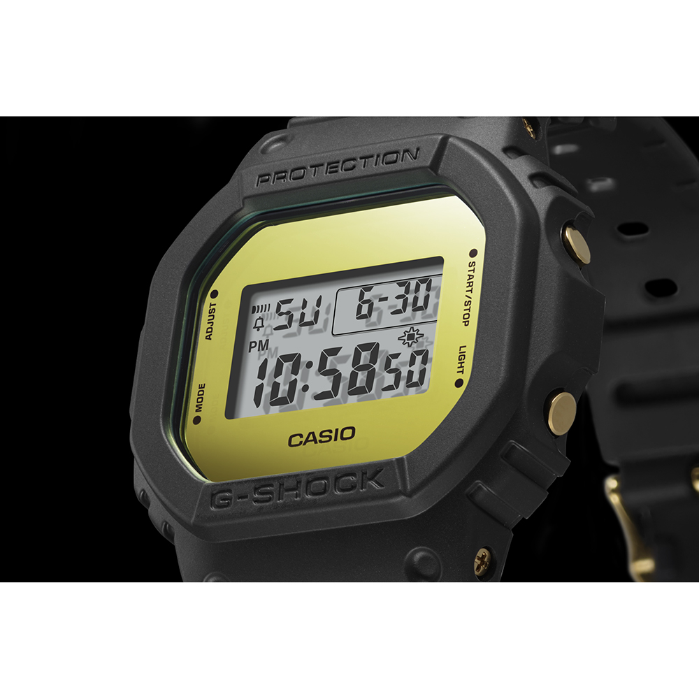 49e6aae6e240 Black   Gold Square Digital G-Shock Watch Spring and Summer Collection G- Shock