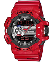 GBA-400-4AER G-Mix Bluetooth 51.90mm Red Watch with Smartphone Link