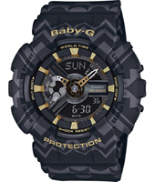 BA-110TP-1AER Special Tribal Patern 43.40mm Black & gold ladies G-Shock