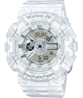 BA-110TP-7AER Special Tribal Patern 43.40mm White ladies G-shock watch