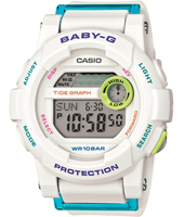 BGD-180FB-7ER Surf Girl 44mm White digital watch with resin strap