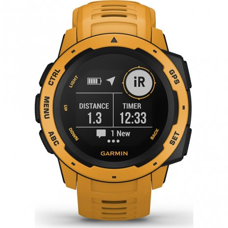 Garmin Watch Yellow