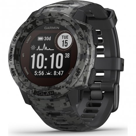 Garmin Instinct Solar Graphite Camo Watch
