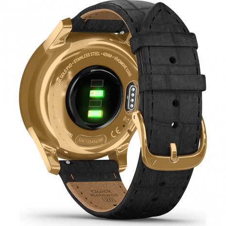 24K Gold Hybrid Smartwatch with hidden touchscreen Spring and Summer Collection Garmin