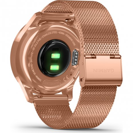 18K Rose Gold Hybrid Smartwatch with hidden touchscreen Spring and Summer Collection Garmin