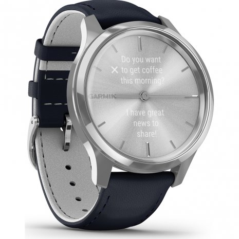 Stainless Steel Hybrid Smartwatch with hidden touchscreen Spring and Summer Collection Garmin