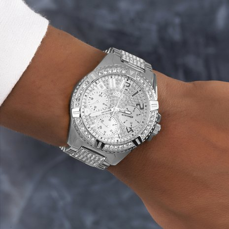 Pavé Quartz Watch with DayDate Autumn and Winter Collection Guess