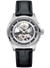 H42555751 Jazzmaster Viewmatic Skeleton 40mm Automatic Black Watch