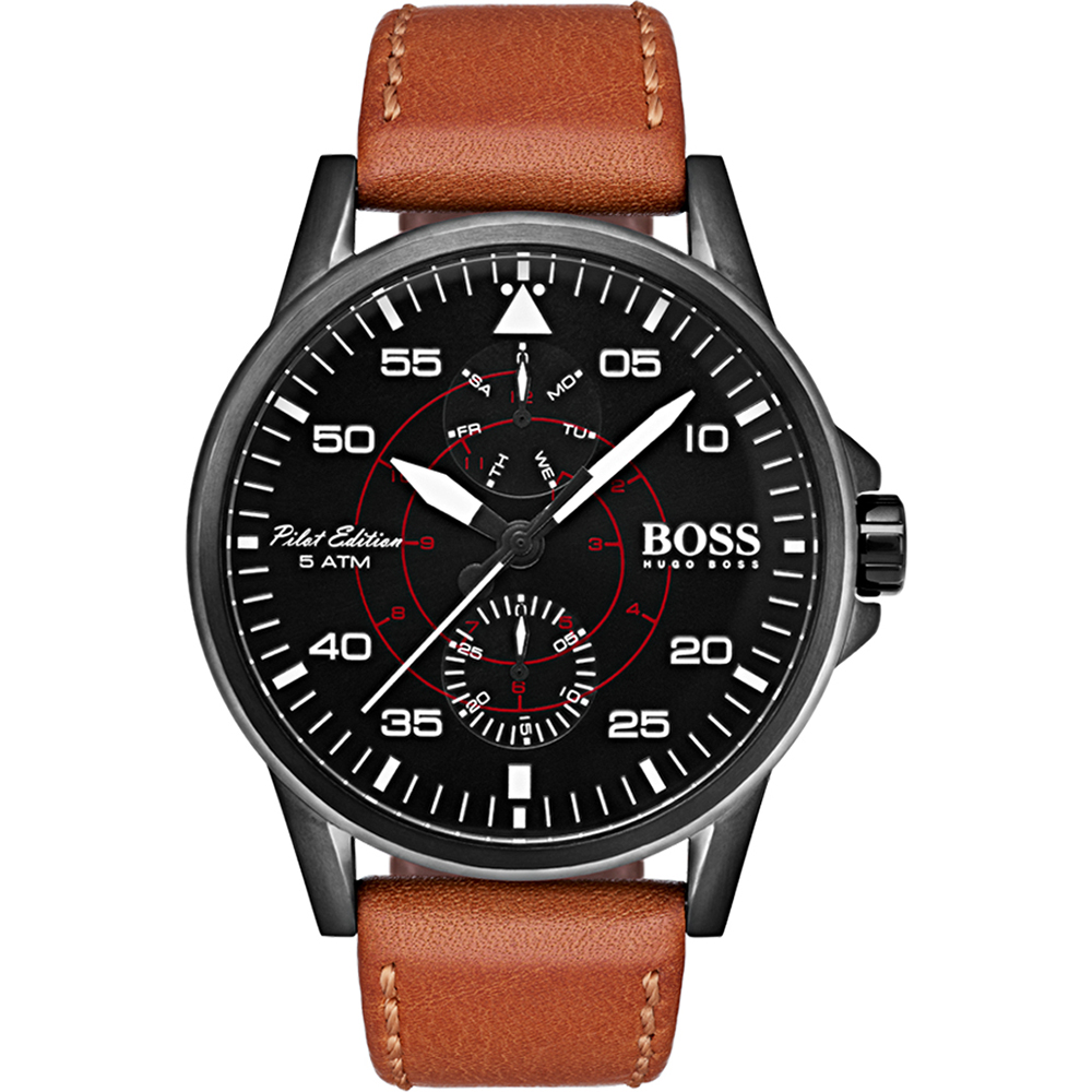 hugo boss 1513517 watch aviator. Black Bedroom Furniture Sets. Home Design Ideas