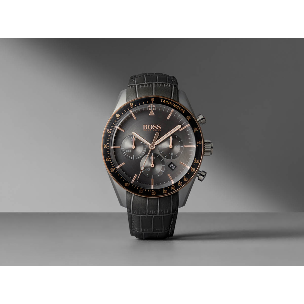 40df8cfc4e2 Grey Chronograph and Tachymeter Watch with Date Autumn and Winter  Collection Hugo BOSS