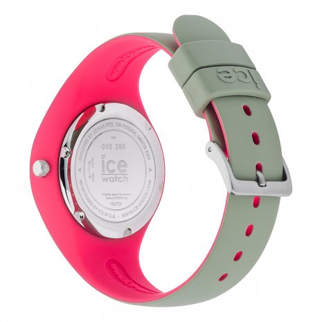 Khaki & Pink Silicone Watch Size Small Spring and Summer Collection Ice-Watch