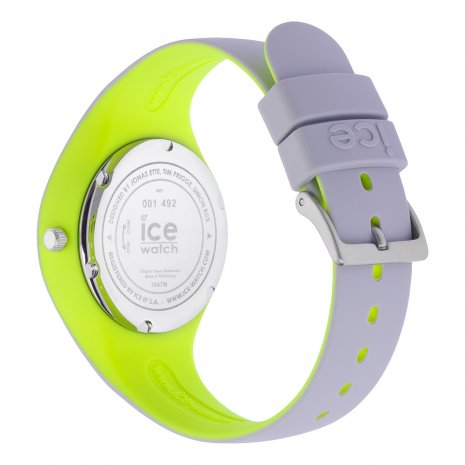 Light Grey & Yellow Silicone Watch Size Small Spring and Summer Collection Ice-Watch