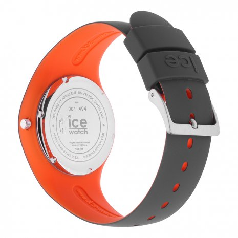 Anthracite & Orange Silicone Watch Size Medium Spring and Summer Collection Ice-Watch