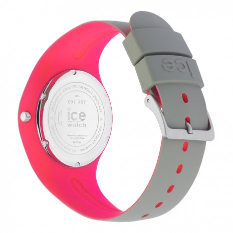 Khaki & Pink Silicone Watch Size Medium Spring and Summer Collection Ice-Watch