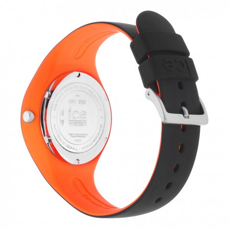 Black & Orange Silicone Watch Size Small Spring and Summer Collection Ice-Watch