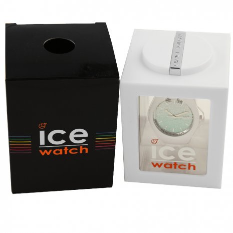 White Ladies Watch with Crystals Size Medium Spring and Summer Collection Ice-Watch
