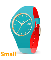 007232 Ice-Loulou 34mm Turquoise & gold silicone watch