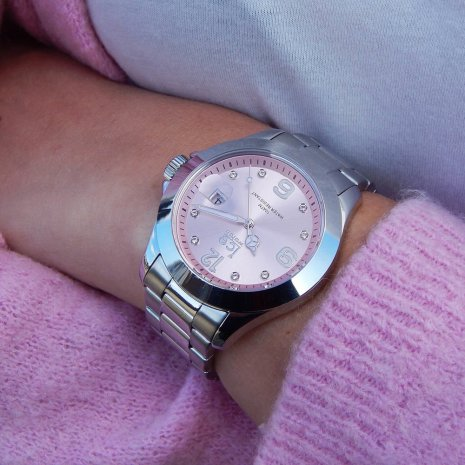 Steel Quartz Watch with Crystals Spring and Summer Collection Ice-Watch