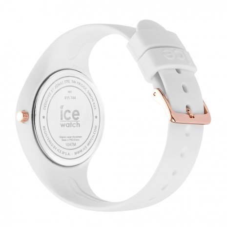 Rose Gold & White Silicone Watch Size Small Spring and Summer Collection Ice-Watch