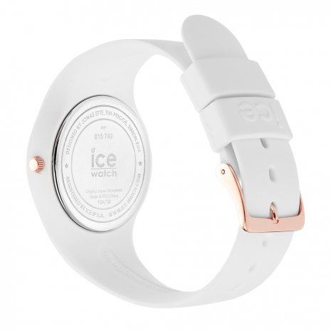 Rose Gold & White Silicone Watch Size Medium Spring and Summer Collection Ice-Watch