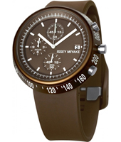 SILAT007 Trapezoid 43mm Brown chrono with trapezoid case