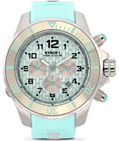 KYC-004-48 Chrono Silver Mint 48mm Large Mint Green Chronograph Diver