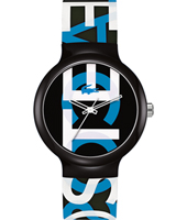 2020063 Goa Black Watch with Blue Lettering & Red Hands