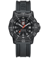 A.4221 Anu 4200 Series 45mm Black Steel Dive Watch with Saphire Crystal, Rubber Strap
