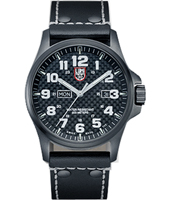 A.1921 Atacama Field 45mm Black Day/Date Watch on Black Leather Strap