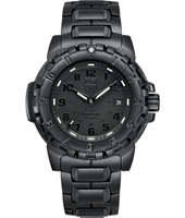 A.6402.BO F117 Nighthawk 45mm All Black Steel Watch with Date. 20 ATM, Sapphire Crystal