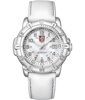 A.7257 Modern Mariner  38mm White, Steel & Mother of Pearl Ladies Dive Watch with Saphire Crystal