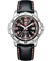 A.7261 Modern Mariner  38mm Black, Steel & Pink Ladies Dive Watch with Sapphire Crystal