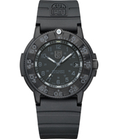 A.3001.BO Original Navy Seals  43mm All Black carbon Dive Watch on Rubber Strap