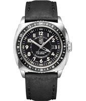 A.9421 P-38 Lighting 44mm Steel & Black Leather Mens Watch