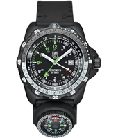 A.8831.KM Recon Compass 46mm Black Carbon GMT Watch with Compass on Rubber Strap