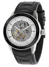 R8821110003 Corsa  46mm Automatic Black & Steel Skeleton Watch