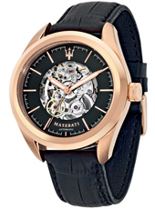 R8821112001 Traguardo 45mm Automatic rose gold skeleton watch
