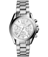 MK6174 Bradshaw Mini 36mm Silver Ladies Chronograph with Date