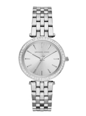 MK3364 Darci Mini 33mm Silver Ladies Watch with Crystals
