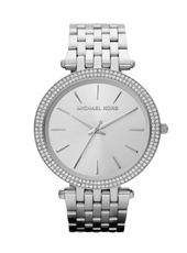 MK3190 Darci 39mm Silver Ladies Watch with Crystals