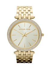 MK3191 Darci 39mm Gold Ladies watch with Crystals