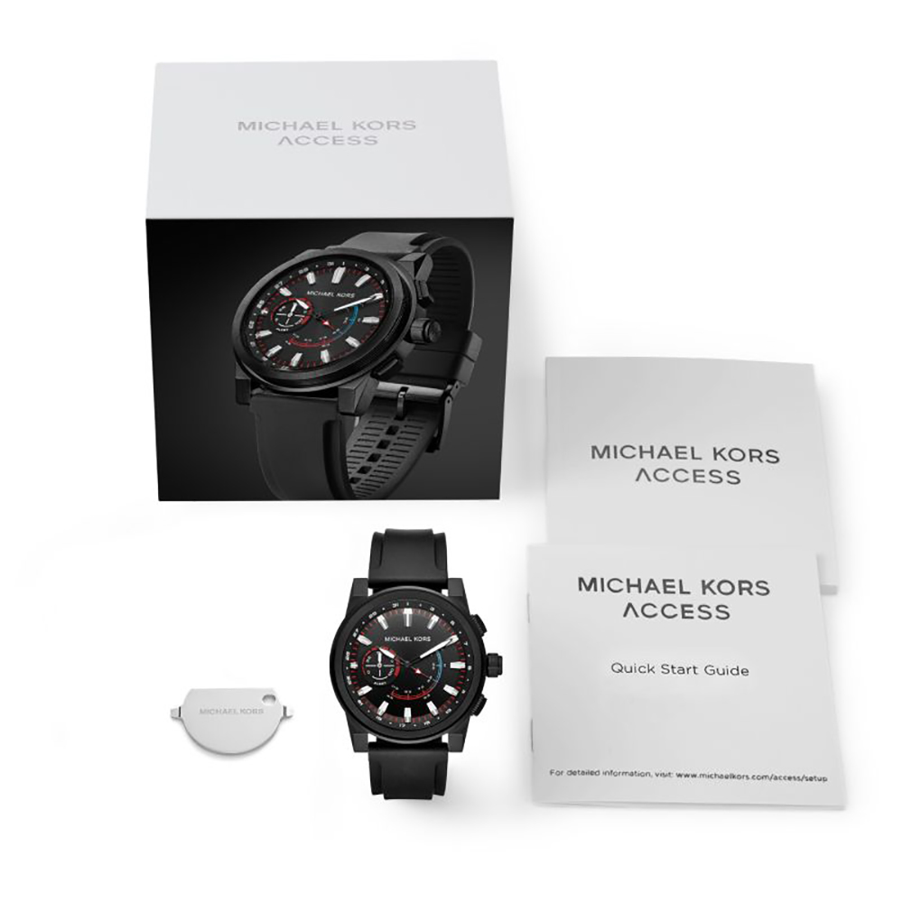 e42ad2ea50f11 Black Hybrid Smart Watch with Silicone Strap Autumn and Winter Collection Michael  Kors