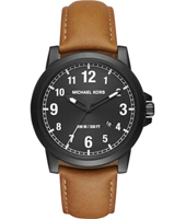 MK8502 Paxton 43mm Black gents watch with date