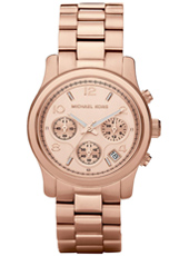 MK5128 Runway Mid 38mm Rose Gold Lady Chrono Watch