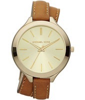 MK2256 Runway Slim l 42mm Gold Watch with Double Twist Strap