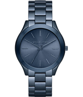 MK3419 Runway Slim ll 42mm Blue thin ladies watch