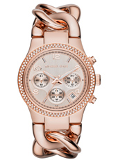 MK3247 Runway Twist 38mm Rose Gold Ladies Chrono with Date