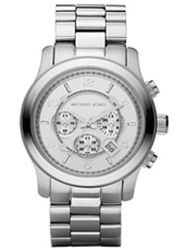 MK8086 Runway XL 45mm Steel Gents Chronograph with Date